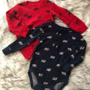 Carters baby boy bodysuits 18 Months